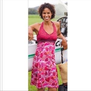 ATHLETA Pack Everywhere Paisley Print Halter Dress